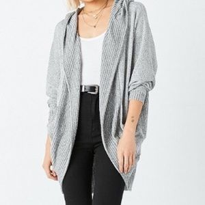 Silence + Noise hooded open front cardigan
